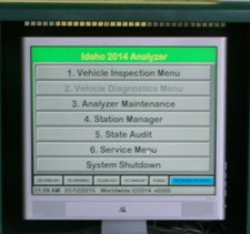 Emissions Inspection Screen
