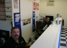 Auto service advisors at front counter