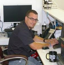 service advisor at desk