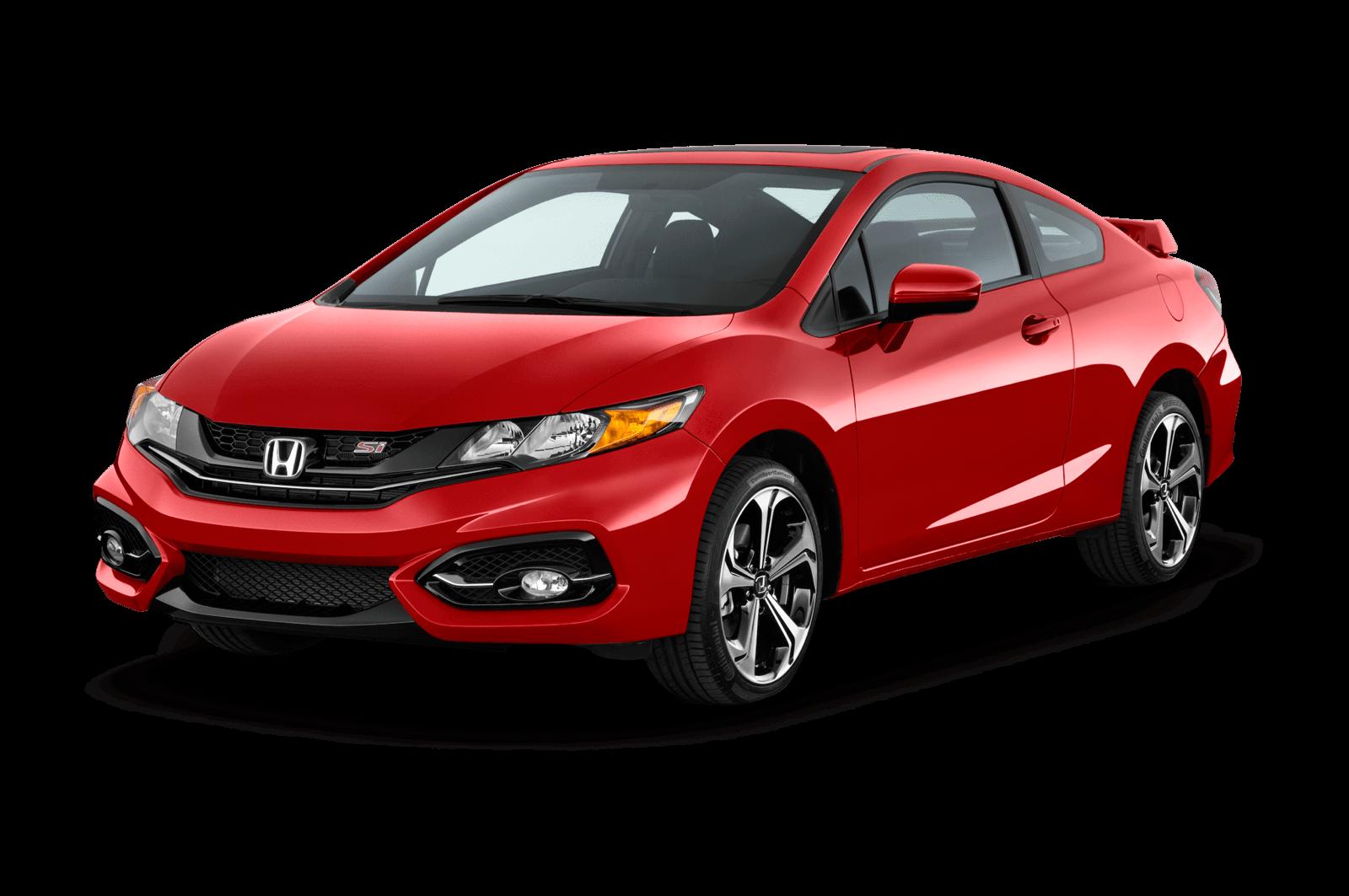 Honda Civic red two door